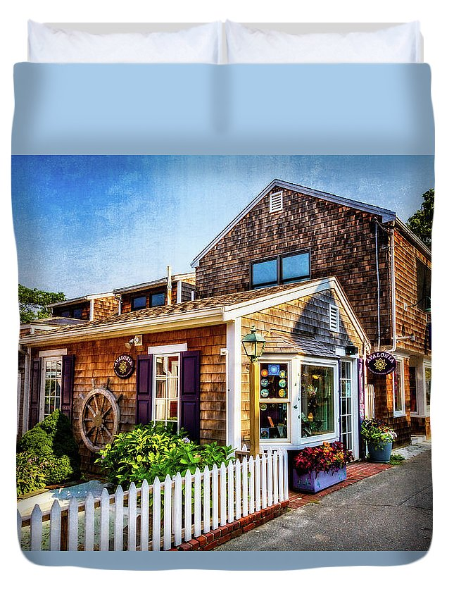 Rockport Ma Duvet Cover featuring the photograph Rockport Ma by Larry Richardson