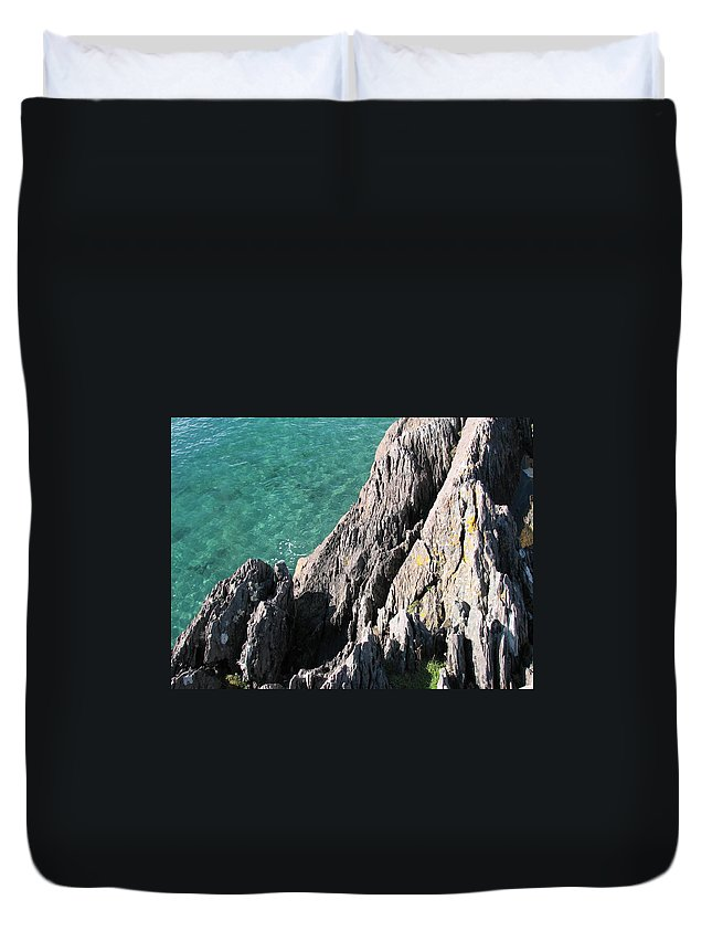 Kerry Duvet Cover featuring the photograph Rocks Of Kerry by Kelly Mezzapelle