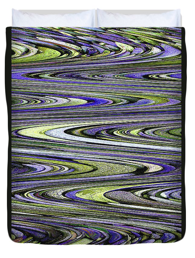 Rocks On Beach Abstract Duvet Cover featuring the photograph Rocks On Beach Abstract by Tom Janca