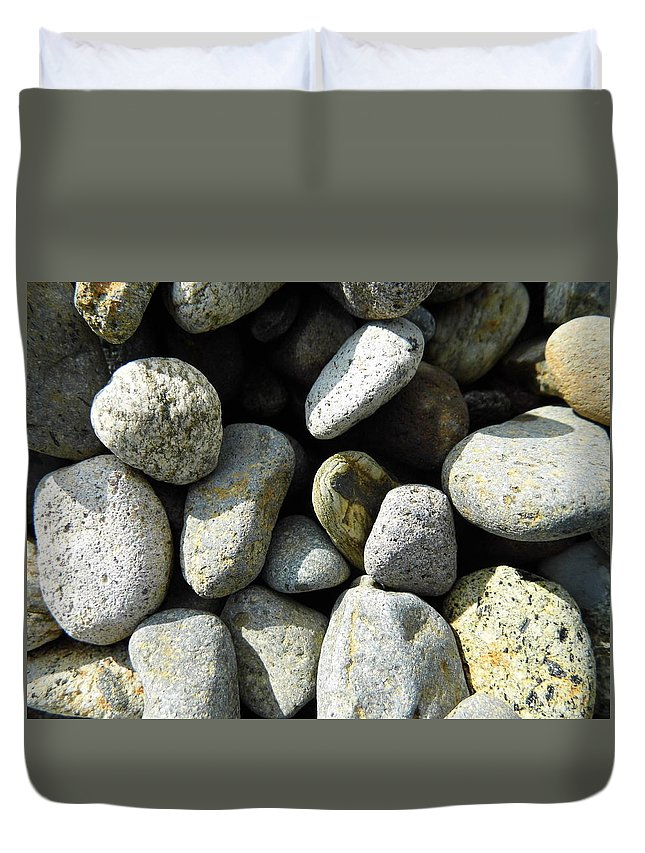 Rock Duvet Cover featuring the digital art Rocks by Palzattila