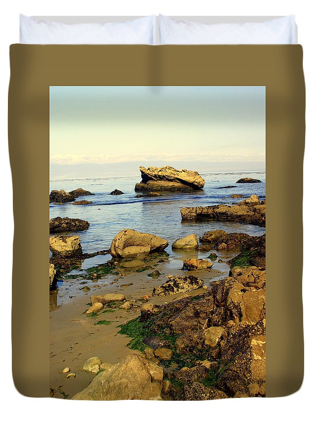Beach Duvet Cover featuring the photograph Rocky Beach by Marty Koch