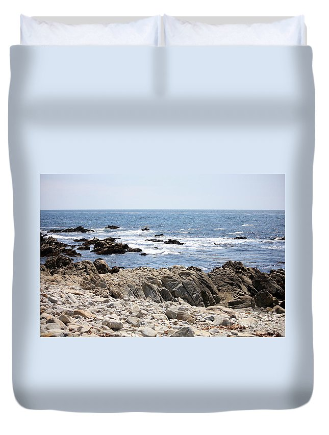 California Duvet Cover featuring the photograph Rocky California Coastline by Carol Groenen
