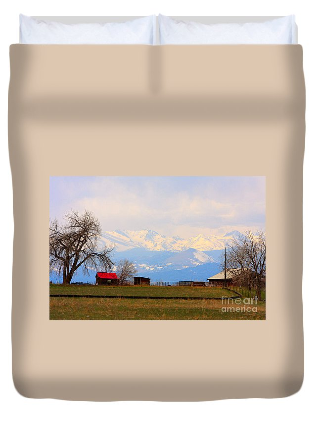 Rocky Mountains Duvet Cover featuring the photograph Rocky Mountain Boulder County View by James BO Insogna