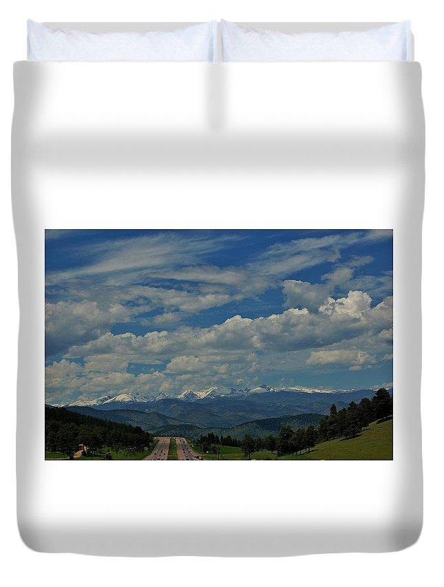 Colorado Duvet Cover featuring the photograph Colorado Rocky Mountain High by Christopher James