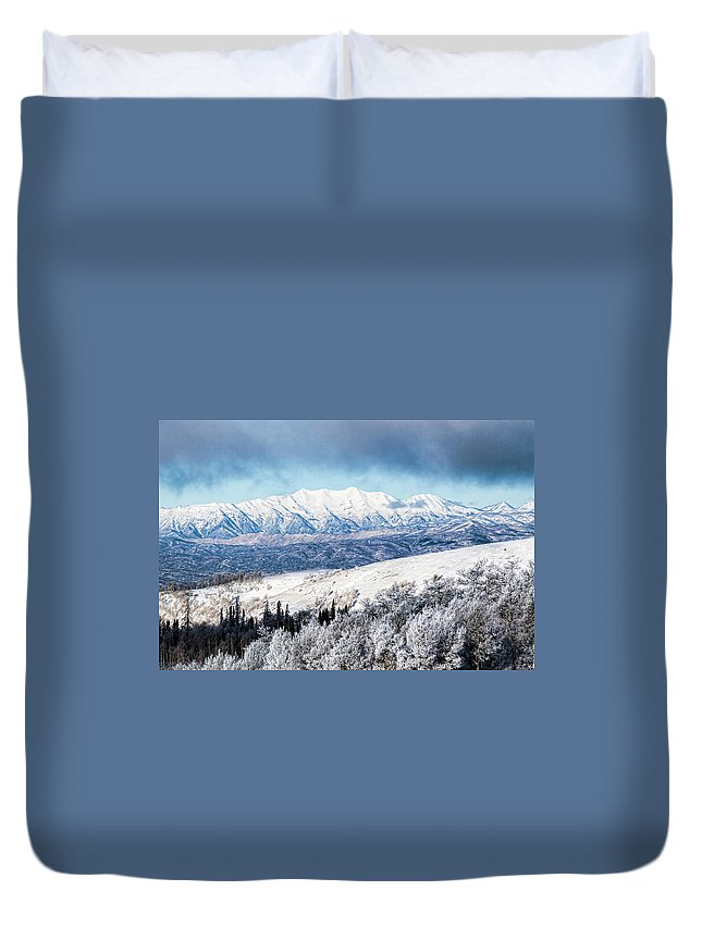 Mount Nebo Duvet Cover featuring the photograph Rocky Mountain Winter by Photopoint Art