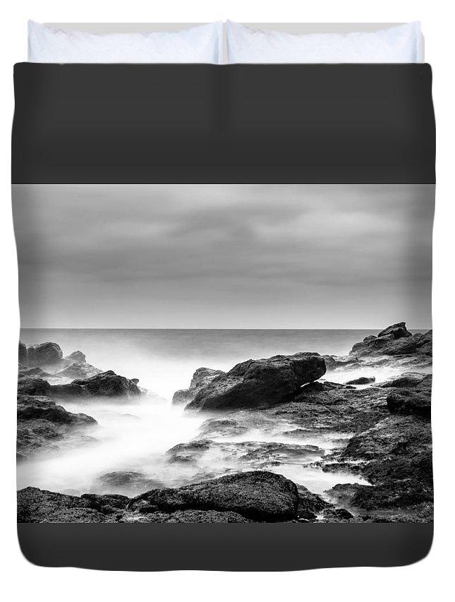 Fuertaventura Duvet Cover featuring the photograph Rocky Shore by Bert Geoghegan