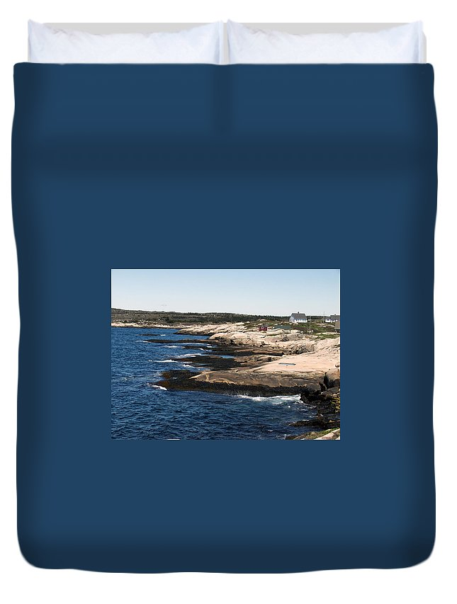 Fishing Duvet Cover featuring the photograph Rocky Shores by Kelvin Booker