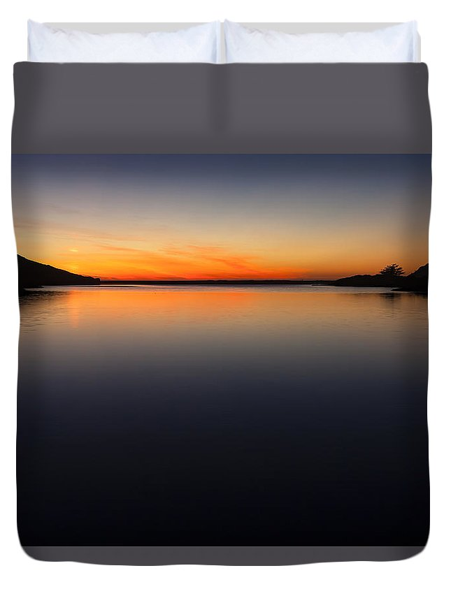 Lagoon Duvet Cover featuring the photograph Rodeo Lagoon At Sunset by Rick Pisio