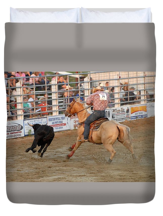Rodeo Duvet Cover featuring the photograph Rodeo 330 by Joyce StJames