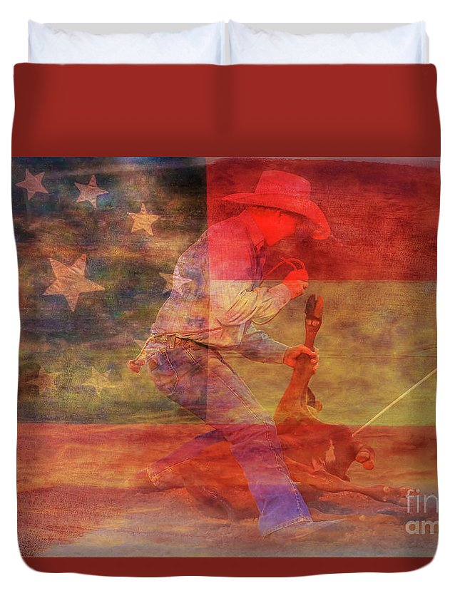 Designs Similar to Rodeo Calf Roper Over Flag