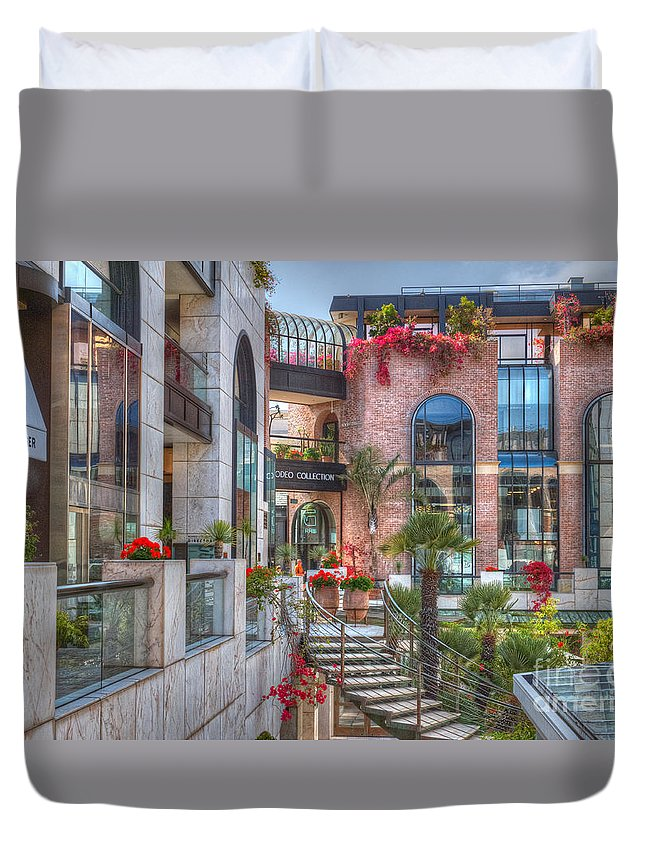 Rodeo Drive Duvet Cover featuring the photograph Rodeo Collection Beverly Hills 2 by David Zanzinger