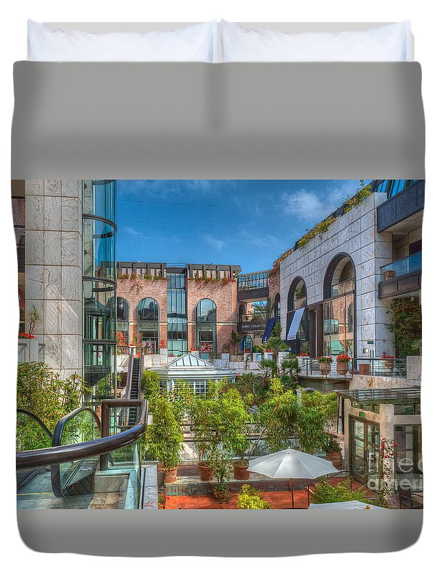 Rodeo Drive Duvet Cover featuring the photograph Rodeo Collection Beverly Hills by David Zanzinger