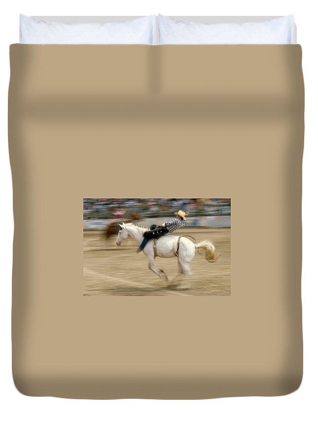Rodeo Duvet Cover featuring the photograph Rodeo by Jerry McElroy