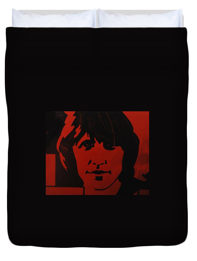 Abstract Duvet Cover featuring the photograph Roger Waters by Rob Hans