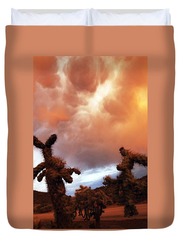 Storm Duvet Cover featuring the photograph Roiling Sky by Jill Reger