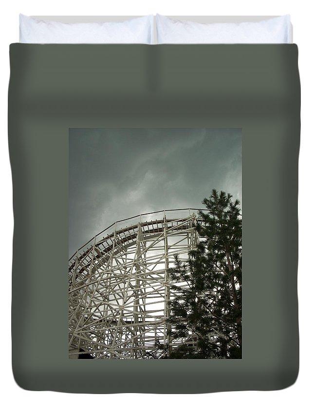 Roller Coaster Duvet Cover featuring the photograph Roller Coaster 4 by Sara Stevenson