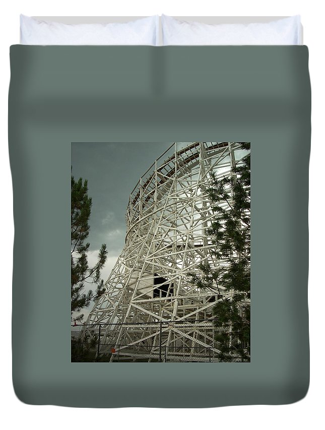 Roller Coaster Duvet Cover featuring the photograph Roller Coaster by Sara Stevenson