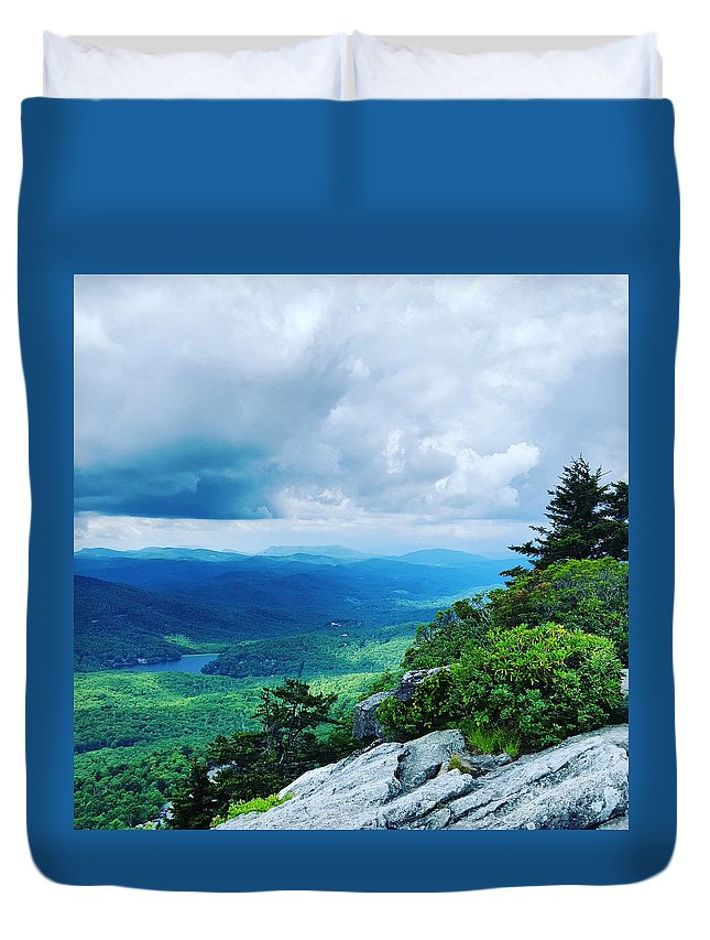 North Carolina Duvet Cover featuring the photograph Rolling Hills by Ric Schafer