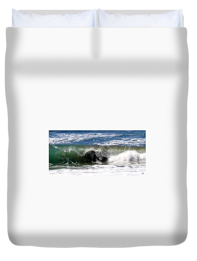 Wave Duvet Cover featuring the photograph Rolling In by Will Borden