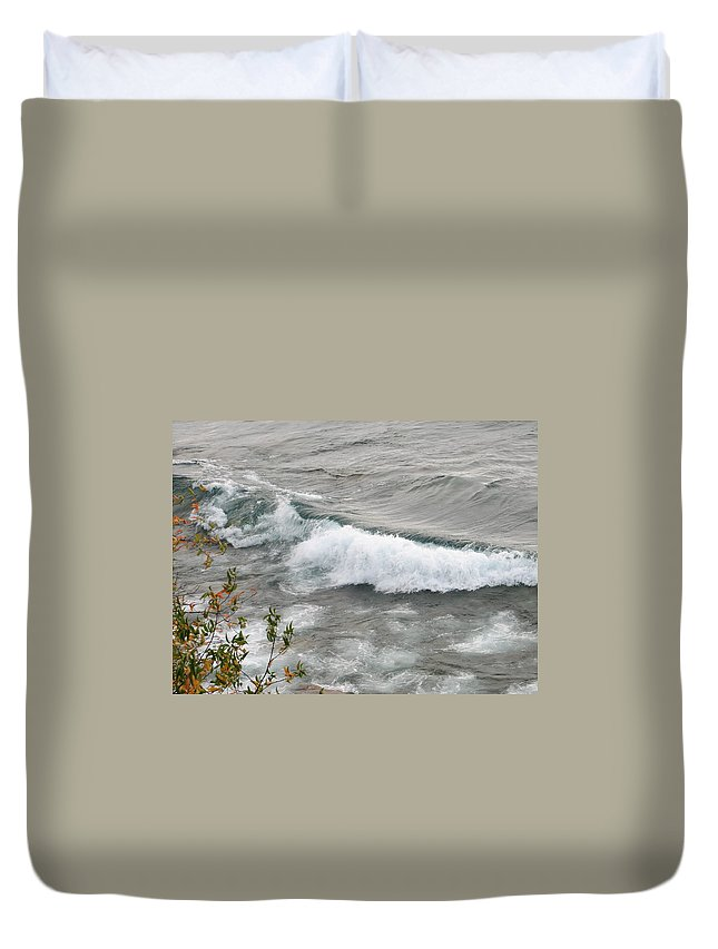 Wave Duvet Cover featuring the photograph Rolling by Kelly Mezzapelle