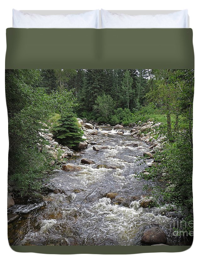 Rivers Duvet Cover featuring the photograph Rollingstone River by Chuck Hanlon