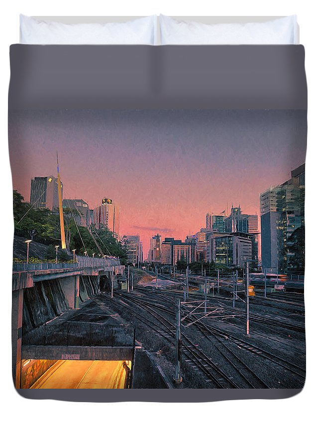Railway Duvet Cover featuring the photograph Roma Station by Chris Hood