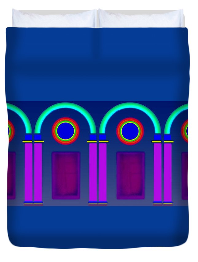 Classical Duvet Cover featuring the digital art Roman Architecture by Charles Stuart