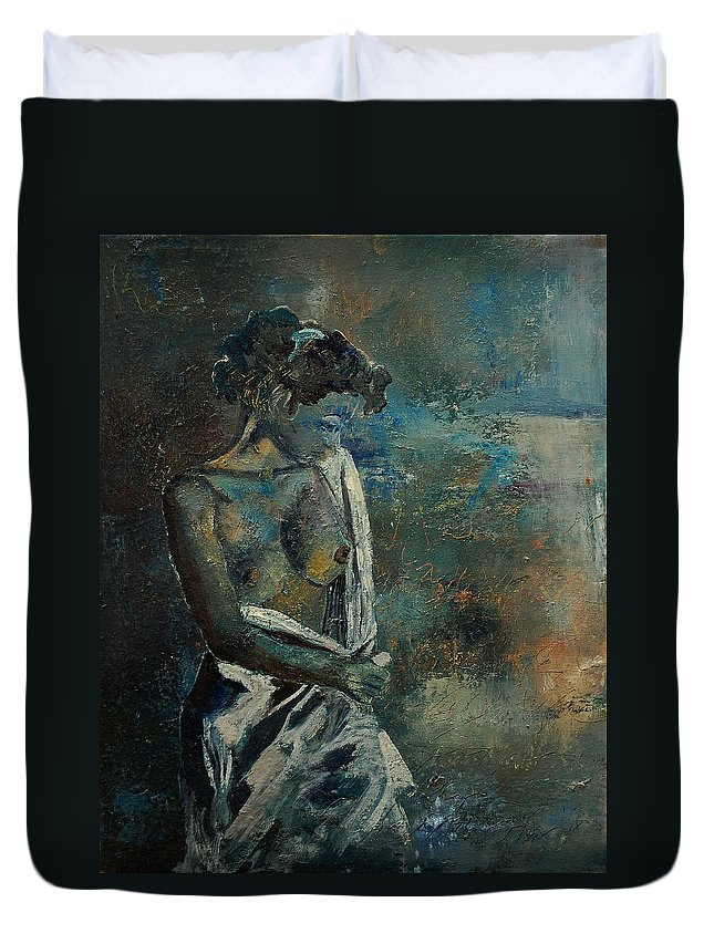 Nude Duvet Cover featuring the painting Roman Nude 45 by Pol Ledent