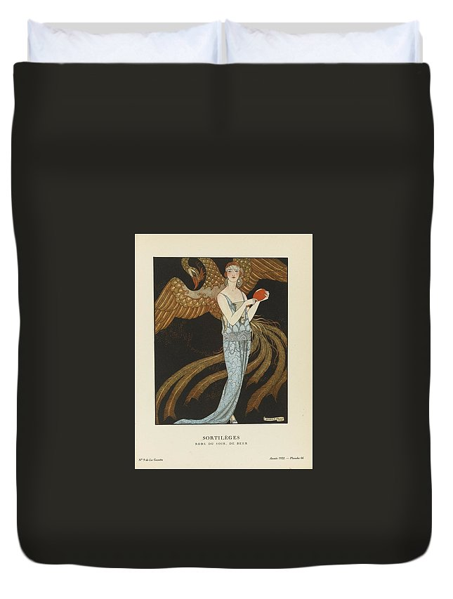 Florian Duvet Cover featuring the painting Roman Pastoral by Celestial Images