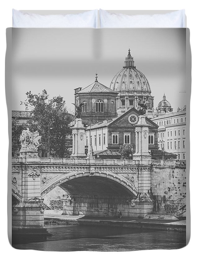 Rome Duvet Cover featuring the photograph Roman Vintage Views by Alanna DPhoto