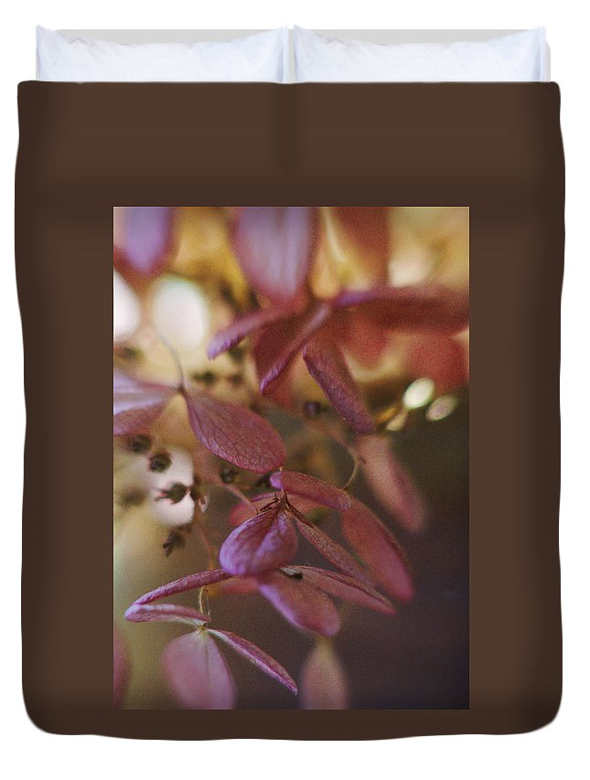 Flowers Duvet Cover featuring the photograph Romance by Arthur Miller