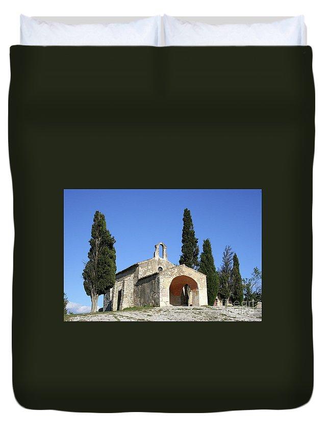 Chapel Duvet Cover featuring the photograph Romanesque Chapel Saint Sixte by Christiane Schulze Art And Photography