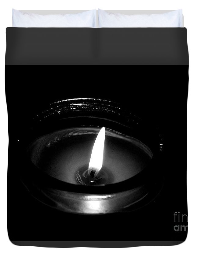 Romance Duvet Cover featuring the photograph Romantic Candle by Meagan Davis