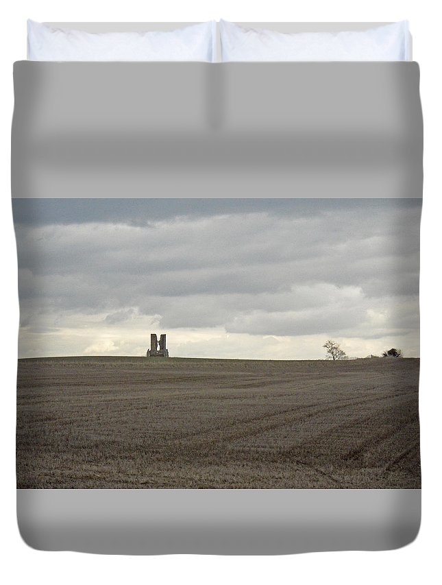 England Duvet Cover featuring the photograph Romantic Ruins by Julia Raddatz