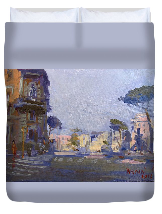 Rome Duvet Cover featuring the painting Rome 2018 by Ylli Haruni