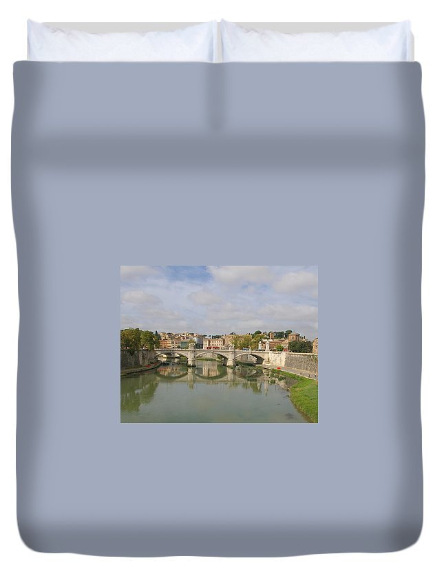 Rome Duvet Cover featuring the photograph Rome Reflections by Tom Reynen