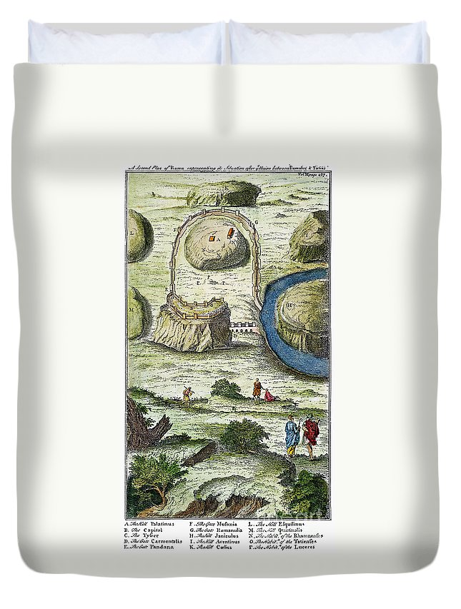 18th Century Duvet Cover featuring the photograph Rome: Seven Hills, 18th C by Granger
