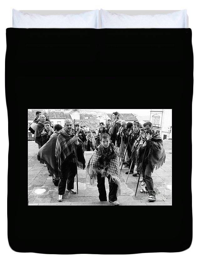 Group Duvet Cover featuring the photograph Romeiros Pilgrims by Gaspar Avila