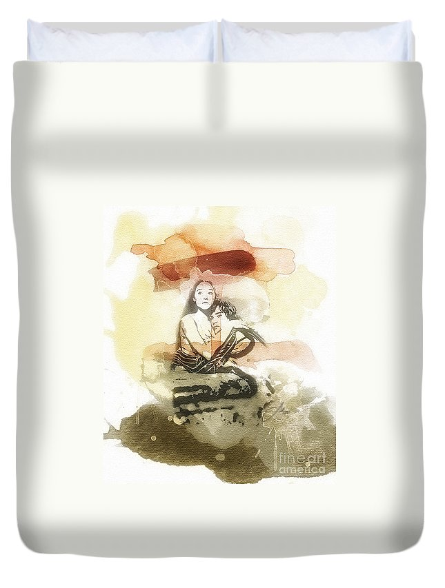 Romeo And Juliet Duvet Cover featuring the painting Romeo And Juliet by Mo T