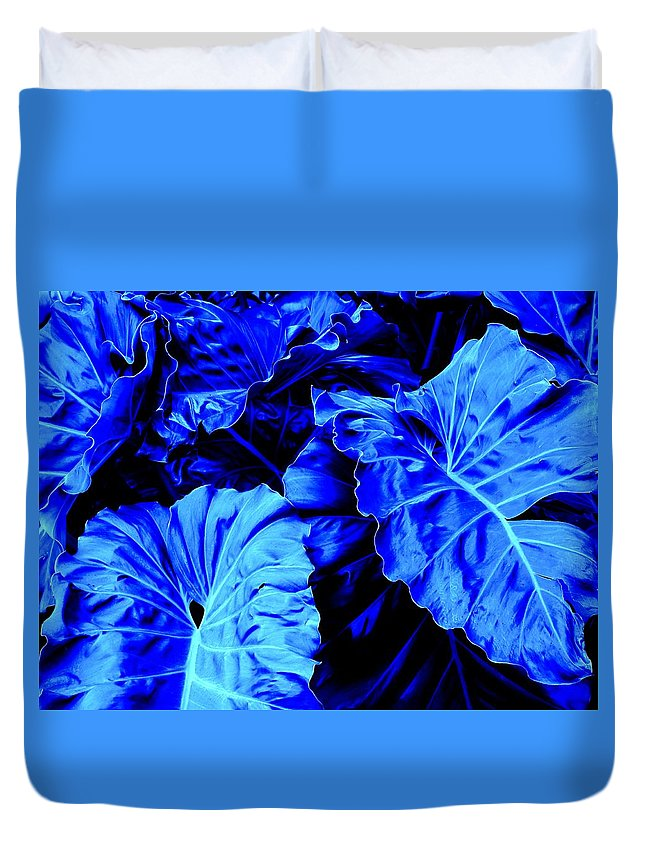 Blue Duvet Cover featuring the photograph Romney Blue by Ian MacDonald