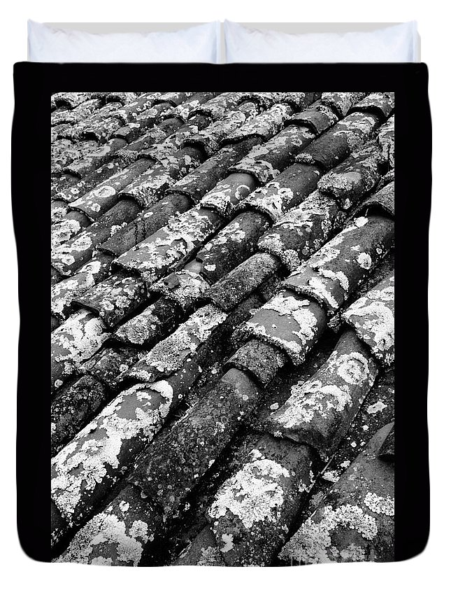 Ceramics Duvet Cover featuring the photograph Roof Tiles by Gaspar Avila