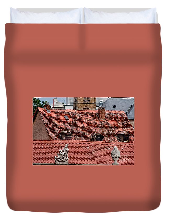 Bamberg Duvet Cover featuring the photograph Rooftops Of Bamberg II by Thomas Marchessault