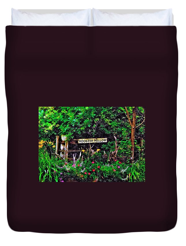 Landscape Duvet Cover featuring the photograph Rooster Hollow by Steve Harrington