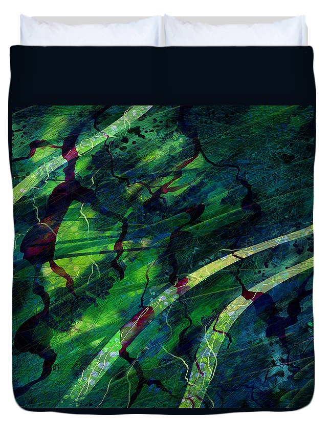 Abstract Duvet Cover featuring the digital art Root Canal by William Russell Nowicki