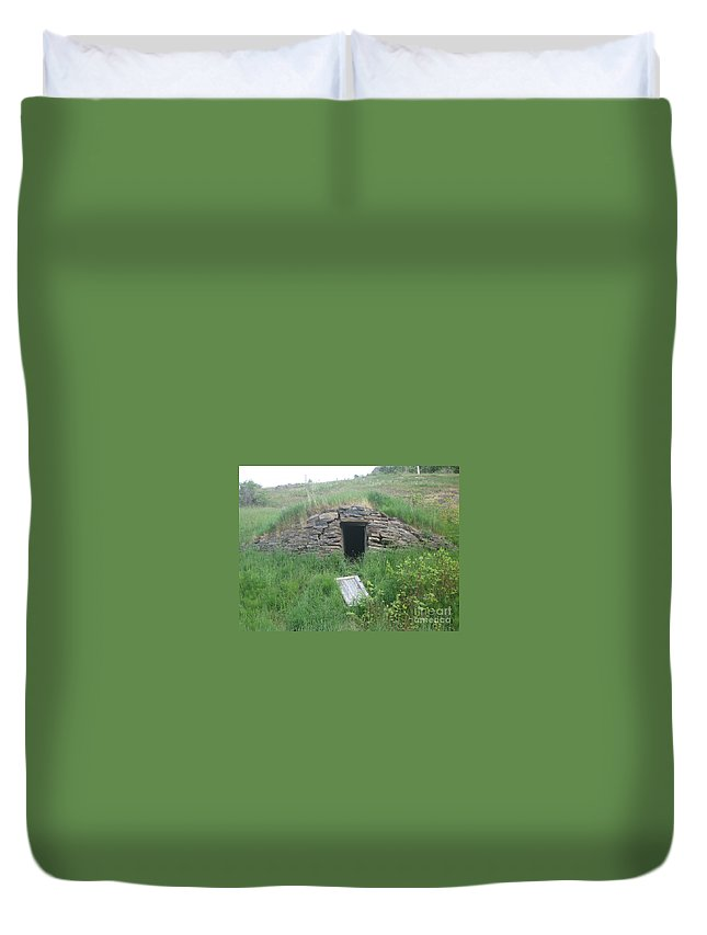 Photograph Cellar Old Green Newfoundland Duvet Cover featuring the photograph Root Cellar by Seon-Jeong Kim