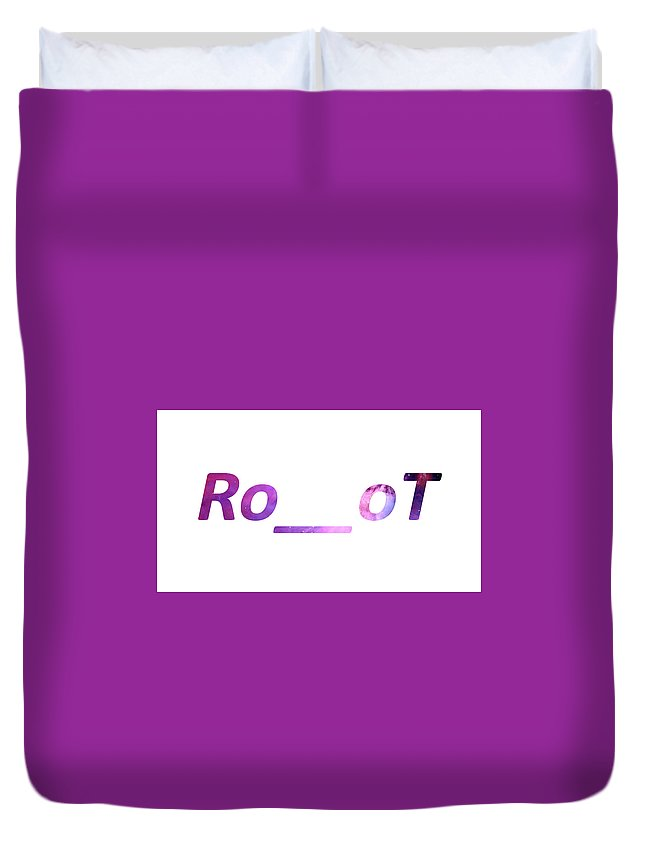 Duvet Cover featuring the photograph Ro__ot by Neo Marekovic