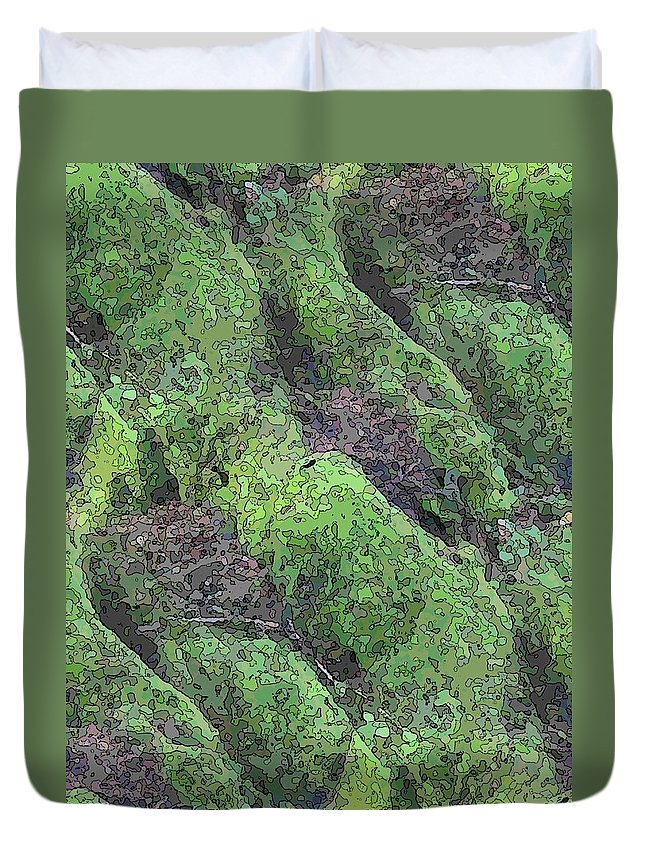 Tree Duvet Cover featuring the digital art Roots Of The Ages by Tim Allen