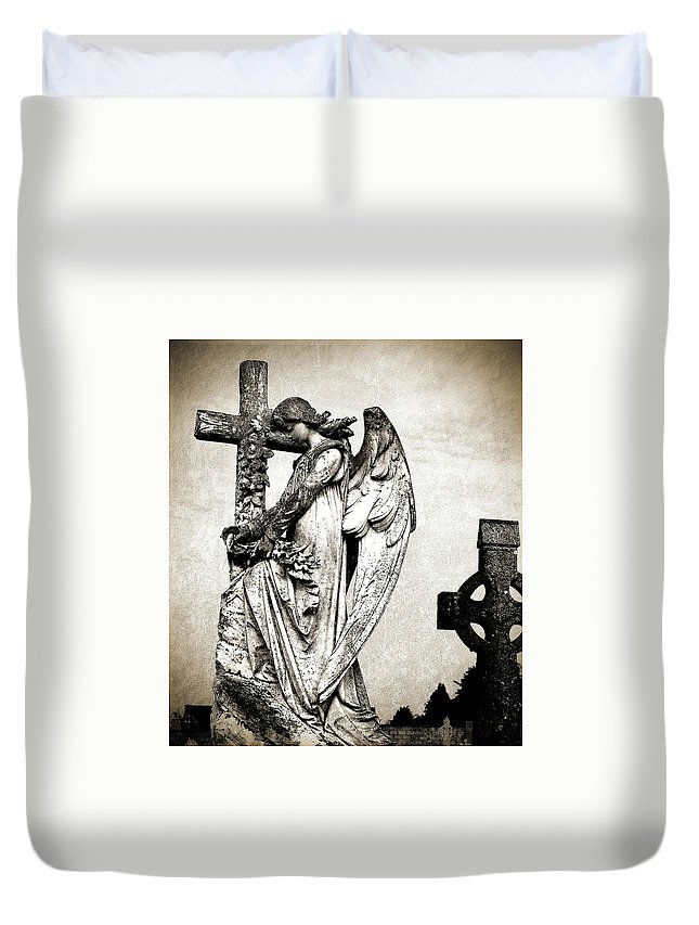 Ireland Duvet Cover featuring the photograph Roscommon Angel No 1 by Teresa Mucha