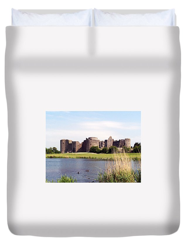 Roscommon Duvet Cover featuring the photograph Roscommon Castle Ireland by Teresa Mucha