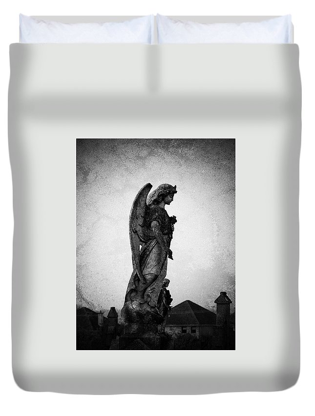 Roscommon Duvet Cover featuring the photograph Roscommonn Angel No 4 by Teresa Mucha